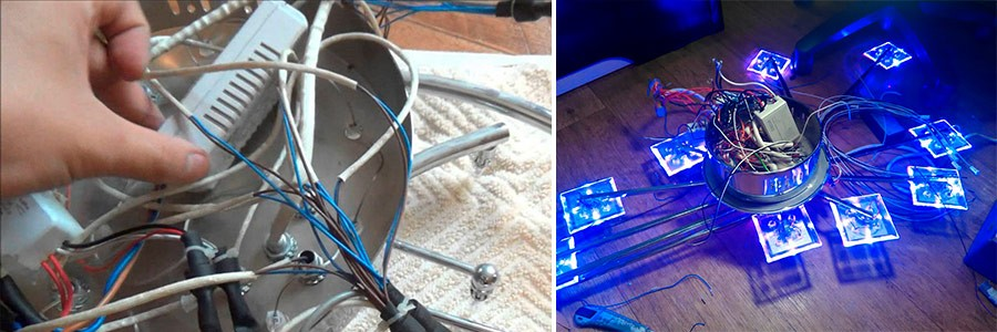 Ремонт люстры с пультом управления ремонт своими руками 19