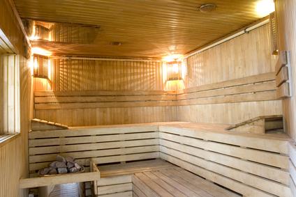 Illuminazione e illuminazione del bagno turco nella sauna e nella